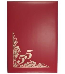 Папка адресная «55 лет», красная