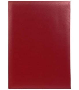 Папка адресная «Без Надписи», без тиснения, красная