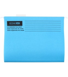 Папка подвесная для картотек Economix 310*240 мм, 345 мм, синяя