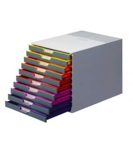 Файл-кабинет Varicolor Durable 355*280*290 мм, 10 лотков, 25 мм, серый