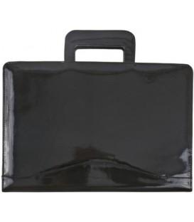 Папка деловая из натуральной кожи «Кинг» 2049 390*270*40 мм, черная