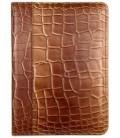 Папка деловая из натуральной кожи «Кинг» 2046 320*240 мм, рифленая золотистая