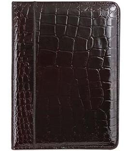 Папка деловая из натуральной кожи «Кинг» 2046 320*240 мм, рифленая, глянцевая темно-бордовая