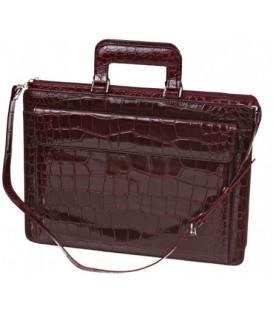Портфель деловой из натуральной кожи «Кинг» 1083 390*290*50 мм, бордо