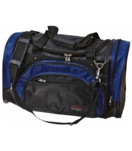Сумка дорожная на плечо с ручками Cagia 530*300*240 мм, черная с синим