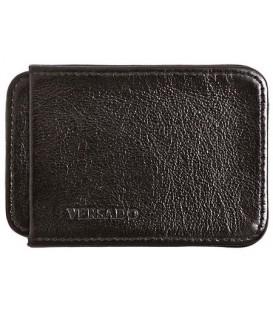 Визитница-футляр из натуральной кожи Versado Б010 65*90*15 мм, черный