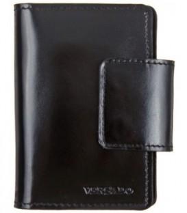 Визитница-футляр из натуральной кожи Versado 051 85*110*15 мм, черный