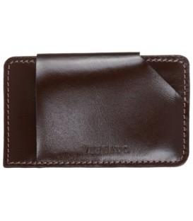 Визитница-футляр из натуральной кожи Versado 043 105*65 мм, коричневый