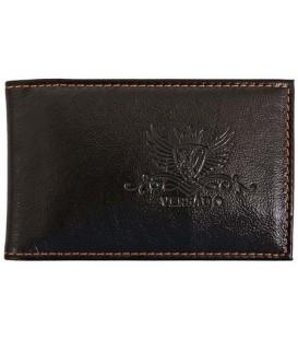 Визитница из натуральной кожи Versado 073.1 65*110 мм, 1 карман, 16 листов, черная