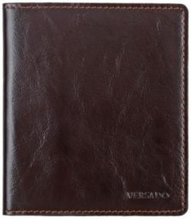 Визитница из натуральной кожи Versado 079 110*125*10 мм, 2 кармана, 16 листов, коричневая