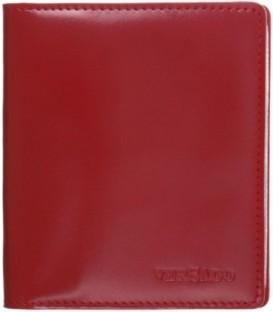 Визитница из натуральной кожи Versado 079 110*125*10 мм, 2 кармана, 16 листов, красная
