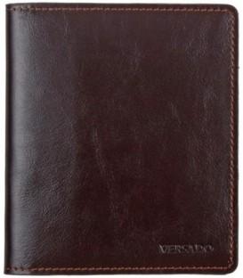 Визитница из натуральной кожи Versado 079.1 125*110*10 мм, 2 кармана, 16 листов, коричневая